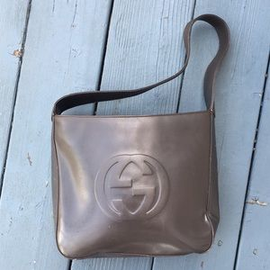 Vintage Gucci soho patent leather shoulder bag